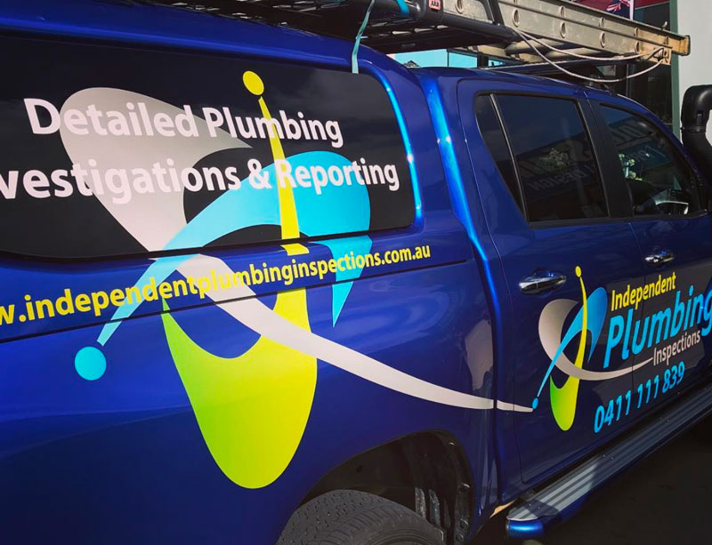 independent plumbing inspections vehicle
